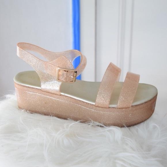 ALDO Shoes - Aldo Glitter Jelly Platform Sandals
