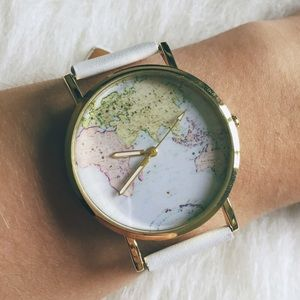 SALE HP World Traveler Map Watch - White