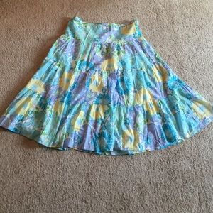 Lilly Pulitzer peasant skirt