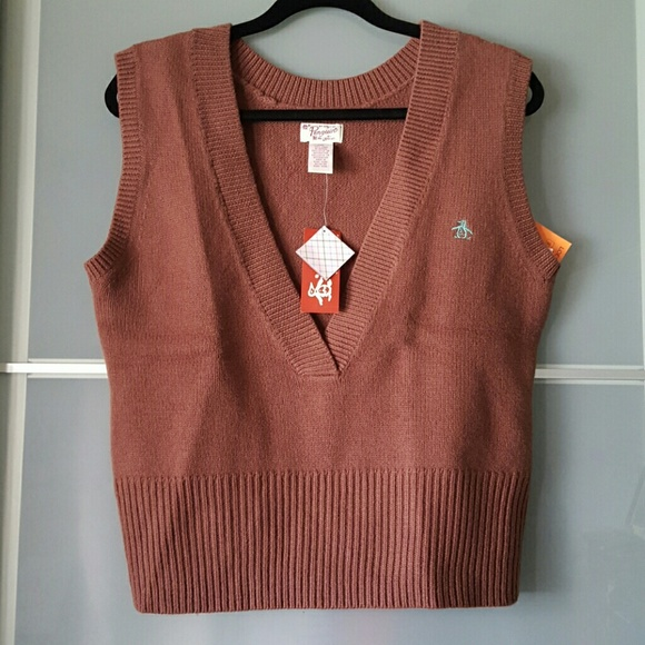88% off Penguin Sweaters - Deep V Sweater Vest from Priscilla's ...