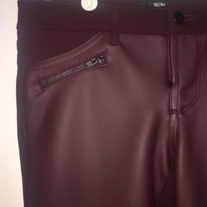 Mossimo Black Pants - Faux Leather Jeggings