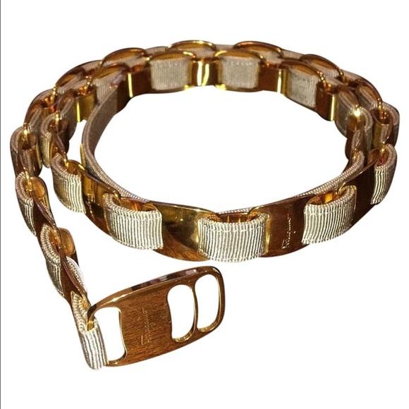 e5792c0e52 Salvatore Ferragamo gold belt. M 572f89a2d14d7b5801007052. Other Accessories  ...