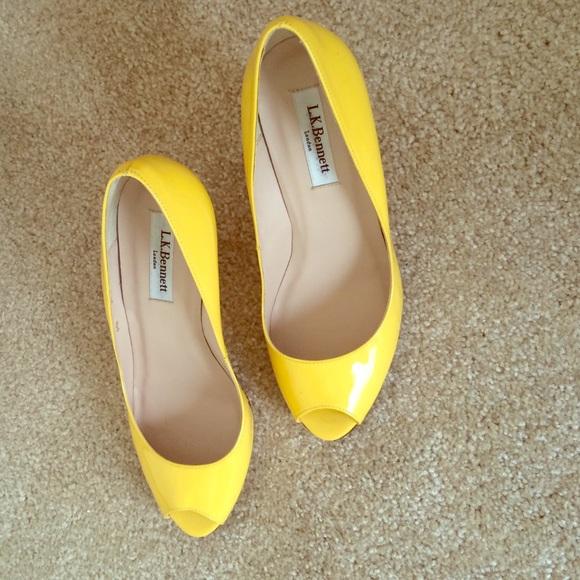 Lk Bennett Estela Wedge Yellow