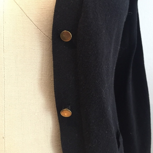 Zara - Zara Knit Black Cardigan Gold Buttons from N's closet on ...