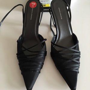 Valerie Stevens Shoes - Valerie Stevens black satin heels