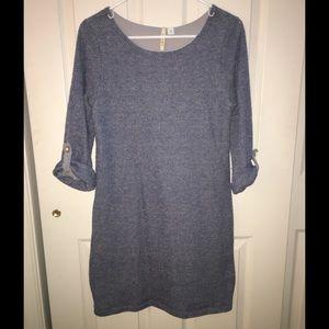 Francesca's Collection 3/4 Sleeve Shift Dress