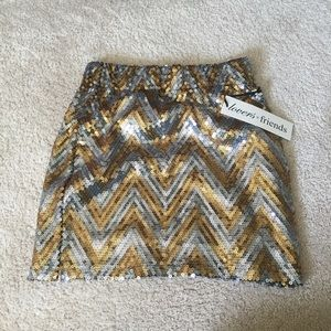 Lovers and Friends Sequin Skirt