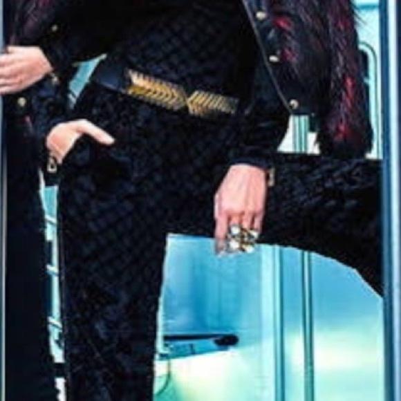 d810e4ef H&M x Balmain Pants   Balmain X H M Black Silkblend Velvet   Poshmark