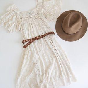 Beautiful Lace Peasant Dress