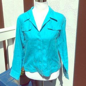 Relativity Jackets & Blazers - Linen blue summer jacket