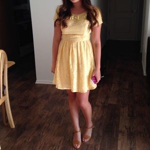 Dresses & Skirts - Little Yellow Lace Dress