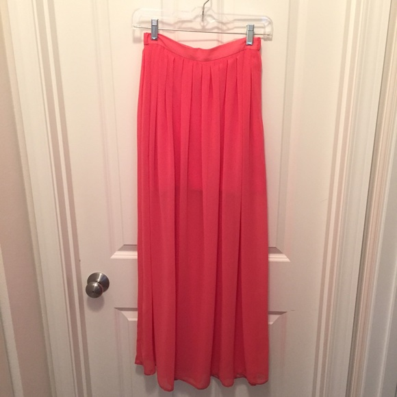 asos like new asos maxi skirt with sheer overlay from