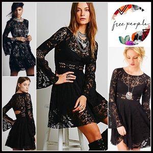 Free People Dresses & Skirts - Free People Boho Crochet Lace Slip Dress