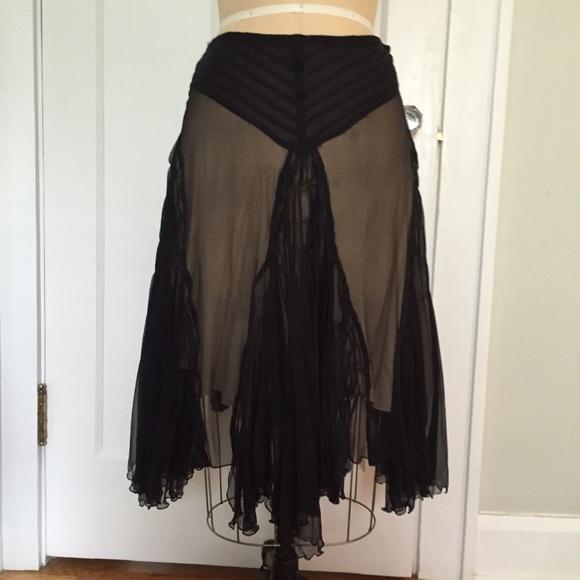 Kookai Dresses   Skirts - Kookai black silk skirt w  nude lining. UK10- 5ea9a874b