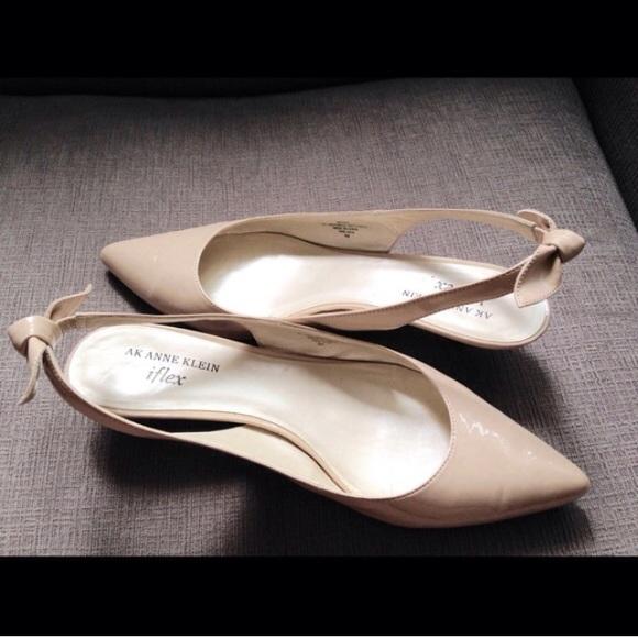 35effa81a99 Anne Klein Shoes - ❗️Anne Klein • Nude Kitten Heel Slingback Pumps