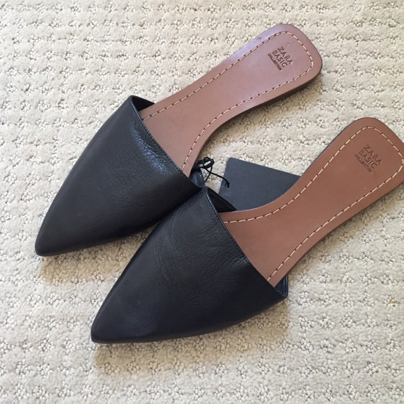 f64eddbce34bd Zara Shoes | Flat Slip On Mules | Poshmark