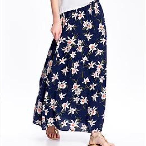 0170d19d6c72 Old Navy Skirts   Floral Maxi Skirt   Poshmark