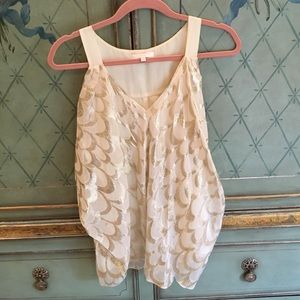 Cream and gold tank