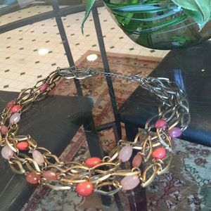 Jewelry - Cute pink and gold necklace