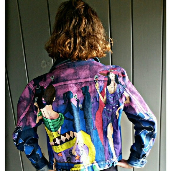 50% off Jackets & Blazers - Unique Hand Painted Jean Jacket from ...