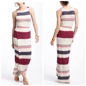 Anthropologie Striped Maxi Dress