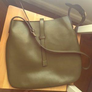 Co-Lab Green Leather Shoulder Bag