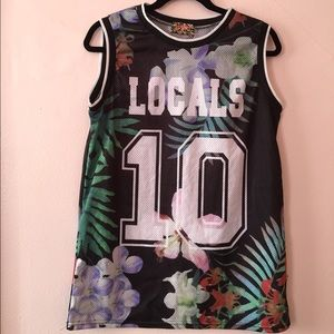 Tops - Floral Mesh Jersey
