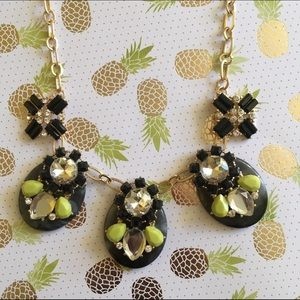 #closetcrush Jewelry - Black and Lime Green Statement Collar Necklace