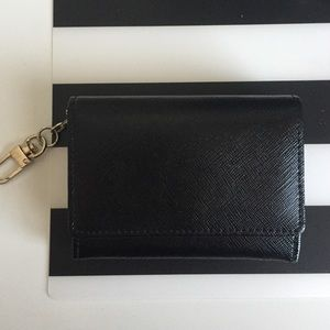 Halogen Patent leather wallet w/ key ring