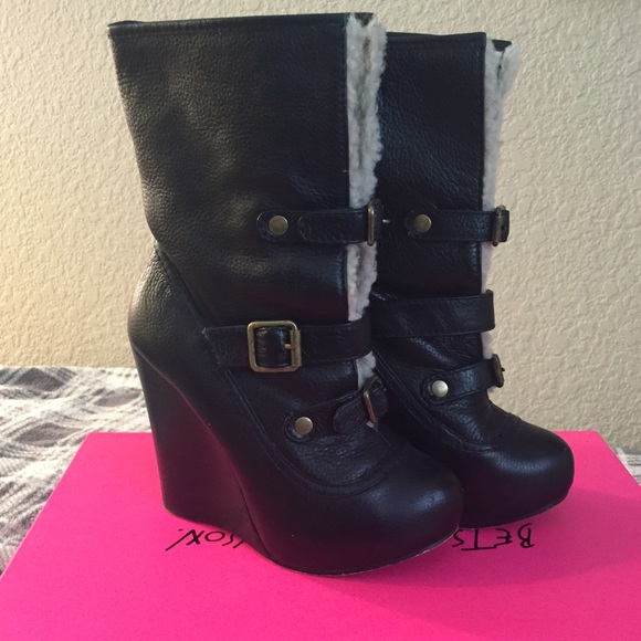 Betsey Johnson Shoes - Betsey Johnson Ryderrr Wedge Boots