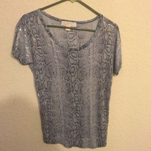 Michael Kors Snakeskin Sequin Top