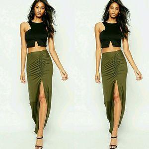 ASOS Ruched Maxi Skirt