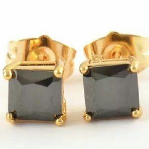 Amrita Singh Jewelry - Brand 🆕 9k Gold Filled Black CZ Studs