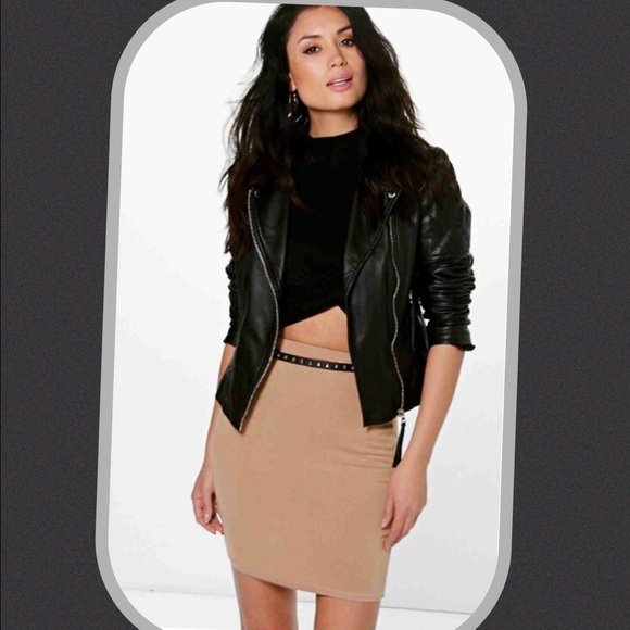 Boohoo Dresses & Skirts - 👊🏼 Tan Stretchy Boohoo Skirt 👊🏼
