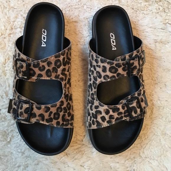 Soda Shoes | Soda Sandals Leopard Print
