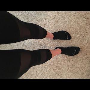73a1d99e156 Fabletics Pants - Fabletics Mesh and Black crop leggings
