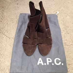 APC Brown ankle boots