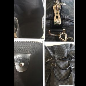 d877b3fbe6f Louis Vuitton Bags   Lv Black And Grey Duffle Bag Excellent Item ...