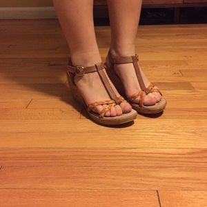 Sotto sopra Shoes - Super cute Platform Heels - braided leather