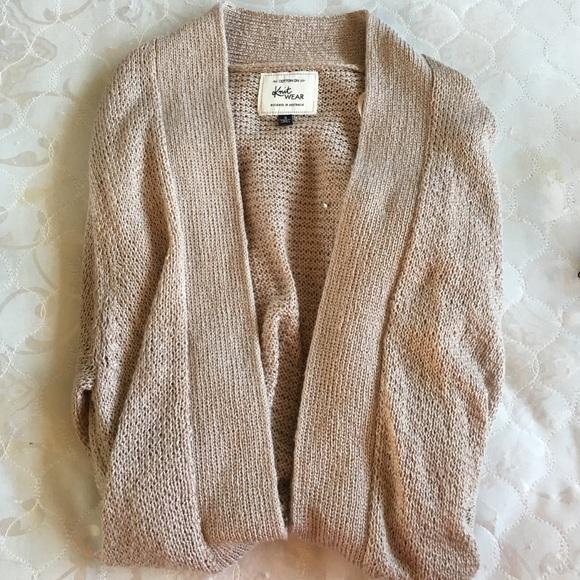 55% off Cotton On Sweaters - beige oatmeal knit open cardigan ...
