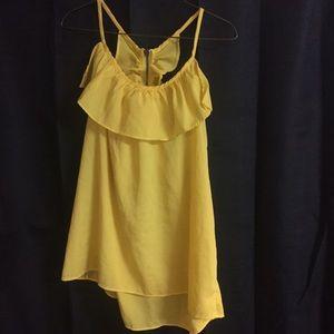 Ali & Kris Tops - Bright yellow boutique tank top!!