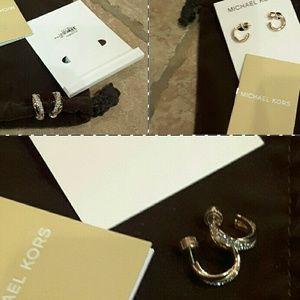 Michael Kors Jewelry - Michael Kors Rose Gold Criss Cross Earrings NWT