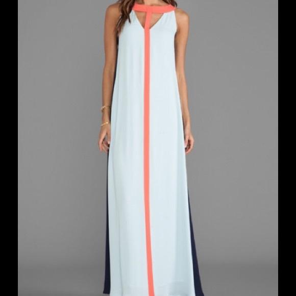 Wilah color-block cutout maxi dress
