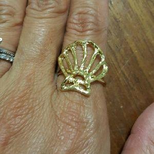 Vermeil shell ring