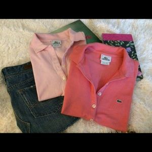 Lacoste Tops - 🌻 Lacoste coral polo Size 34