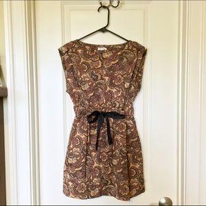 Boho-Chic Paisley Mini Dress