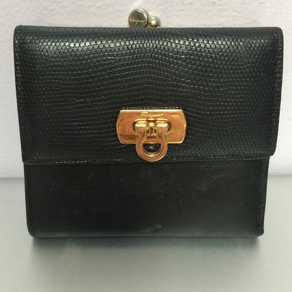 2516a22ceb1 Ferragamo bags vintage salvatore wallet poshmark jpg 580x580 Vintage  salvatore ferragamo black leather clutch