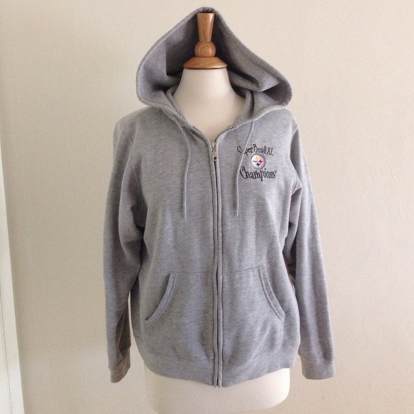 7b8e63cf NFL for her Tops | Steelers Super Bowl Xl Champions Zip Up Hoodie ...