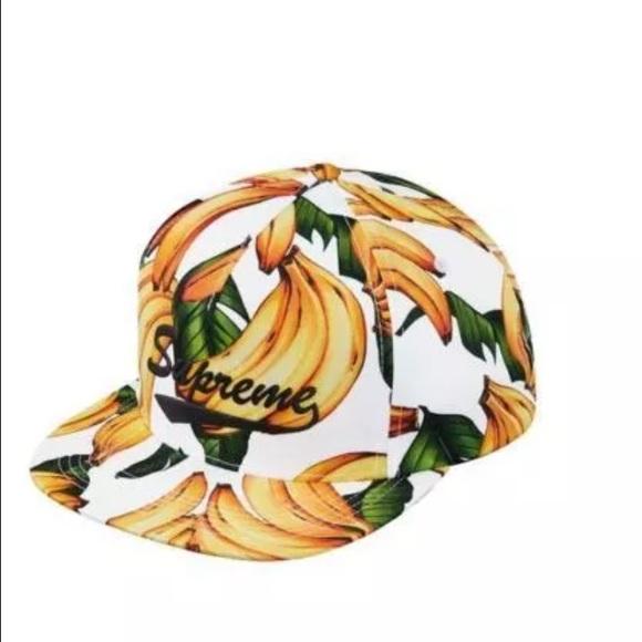 SUPREME banana 5-panel snapback hat. M 5730a619bcd4a700fe06f0c3 5e33abd4b3e