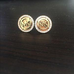 Gold Michael Kors Stud Earrings